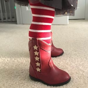 4/$25 Little Girls Red Boots NWT